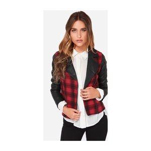 BB Dakota Red Black Plaid Moro Jacket NWT 1X